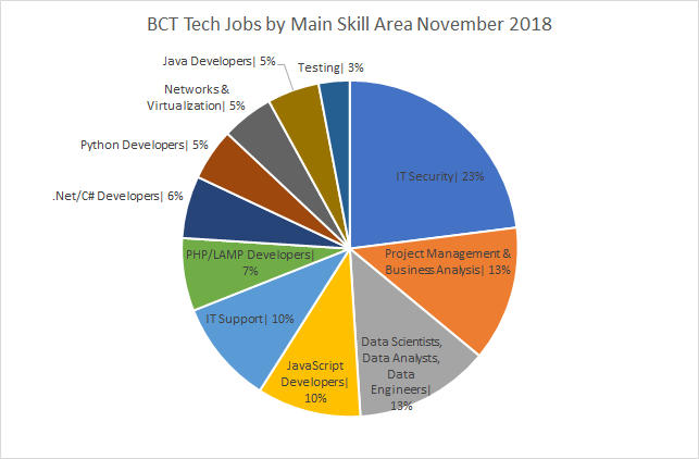 The BCT Resourcing November 2018 Skills Pie